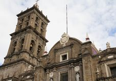 Cattedrale III di Puebla Immagini Stock Libere da Diritti
