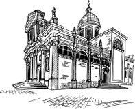 Cattedrale - il presupposto di vergine Maria dubrovnik La Croazia illustrazione vettoriale