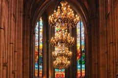 Cattedrale interna Immagine Stock Libera da Diritti