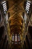 Cattedrale interna della st Vitus praga Fotografia Stock Libera da Diritti