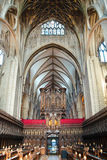 Cattedrale interna di Gloucester fotografia stock
