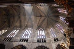 Cattedrale interna di Narbonne Fotografia Stock