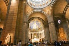 Cattedrale interna di Sacre Coeur a Parigi Immagine Stock Libera da Diritti