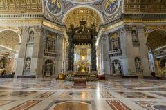 Cattedrale interna San Pietro Fotografie Stock