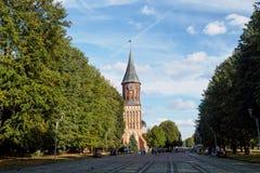 Cattedrale a Kaliningrad Cattedrale di Königsberg fotografia stock libera da diritti