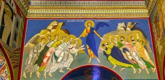 Cattedrale Kiev Ucraina del monastero di Jesus Disciples Mosaic Saint Michael Immagini Stock Libere da Diritti