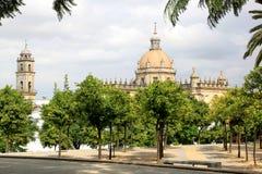 Cattedrale La Frontera di San Salvador, Jerez de Immagini Stock