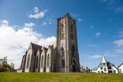 Cattedrale Landakotskirkja, basilica di Cristo il re, Reykjavik fotografia stock libera da diritti