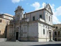 Cattedrale in Lecce, Italia Immagini Stock Libere da Diritti