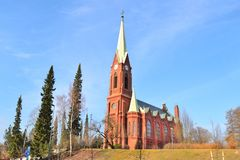Cattedrale luterana in Mikkeli, Finlandia immagine stock libera da diritti