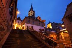 Cattedrale luterana a Sibiu, Romania Fotografia Stock