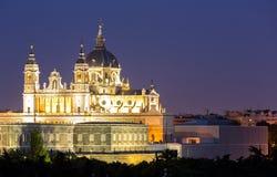 Cattedrale Madrid di Almudena Immagini Stock Libere da Diritti