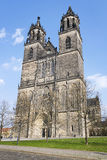 Cattedrale a Magdeburgo, Germania Immagini Stock