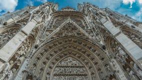 Cattedrale medievale e templi antichi immagine stock
