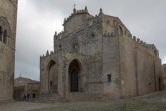 Cattedrale medievale in Erice immagini stock