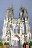 Cattedrale medioevale gotica (Normandia, Francia) Fotografia Stock Libera da Diritti