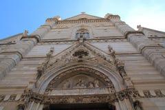 Cattedrale metropolitana二圣玛丽亚Assunta -中央寺院,拿坡里 库存照片