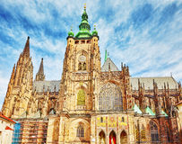 Cattedrale metropolitana dei san Vitus, Wenceslaus Fotografia Stock Libera da Diritti
