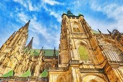 Cattedrale metropolitana dei san Vitus, Wenceslaus Fotografie Stock Libere da Diritti