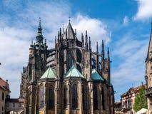 Cattedrale metropolitana dei san Vitus, Wenceslaus e Adalbert Fotografia Stock