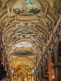 Cattedrale metropolitana del soffitto arcato di Santiago immagini stock libere da diritti