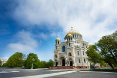Cattedrale navale del san Nicholas in Kronstadt Fotografia Stock