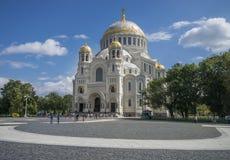 Cattedrale navale in Kronstadt fotografia stock libera da diritti