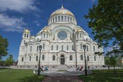 Cattedrale navale in Kronstadt fotografie stock