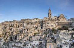 Cattedrale nel centro storico di Matera Fotografia Stock