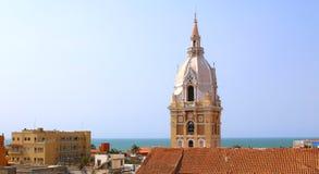 Cattedrale nella città coloniale spagnola di Cartagine, Colombia immagini stock