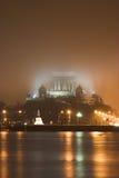 Cattedrale nella nebbia Fotografia Stock