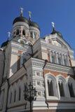 Cattedrale nevsky di Tallinn Estonia Alexander Fotografia Stock