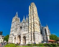 Cattedrale Notre Dame di Rouen in Francia fotografia stock