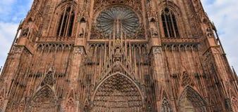 Cattedrale Notre Dame di Strasburgo, Bas Rhin, l'Alsazia fotografia stock