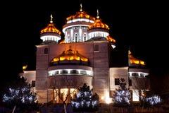 Cattedrale ortodossa in Mioveni, fotografia stock