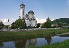 Cattedrale ortodossa nelle immagini delle azione di Sighisoara fotografia stock libera da diritti