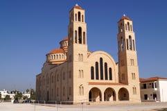Cattedrale ortodossa in Pafo, Cipro di Agioi Anargyroi fotografia stock libera da diritti