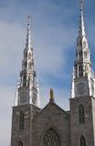 Cattedrale Ottawa Canada del Notre Dame Immagine Stock