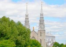 Cattedrale Ottawa di Notre-Dame Fotografia Stock