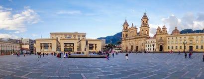 Cattedrale primaria di Bogota, storico e religioso Immagini Stock Libere da Diritti