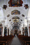 Cattedrale Rococo a Engelberg Svizzera immagine stock libera da diritti