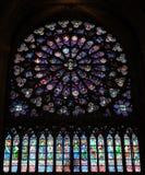 Cattedrale Rosace di Notre-Dame Fotografia Stock Libera da Diritti