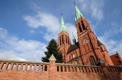 Cattedrale in Rybnik fotografia stock libera da diritti