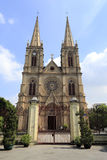 Cattedrale sacra del cuore di Shishi, città di Guangzhou, porcellana Immagini Stock Libere da Diritti