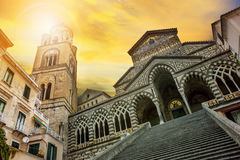Cattedrale of Sant`Andrea ,duomo of amalfi important traveling Stock Photos