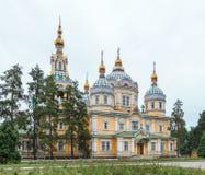 Cattedrale santa di ascensione Almaty, il Kazakistan Fotografie Stock Libere da Diritti