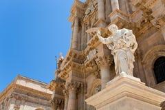 Cattedrale a Siracusa, Sicilia Fotografie Stock Libere da Diritti