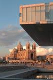 Cattedrale sotto la villa Mediterranee Fotografia Stock