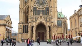Cattedrale St Etienne de Metz stock footage