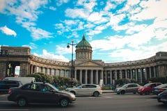 Cattedrale St Petersburg di Kazan Fotografia Stock
